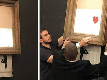 Un tablou în valoare de 1.4 milioane USD s-a autodistrus după ce a fost vândut la licitaţie