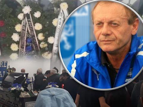 """Primele imagini cu sicriul lui Ilie Balaci. """"Minunea blondă"""", primită în aplauze pe Stadionul Ion Oblemenco din Craiova"""