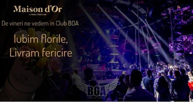 EXCLUSIV! Florăria Maison d'Or cucereşte viaţa de noapte din Bucureşti! Meniuri cu flori în club BOA!