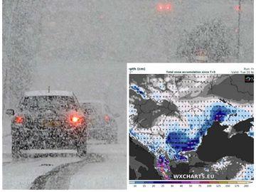 Aşa arată ciclonul care loveşte România! Imagini din satelit: aerul rece ia cu asalt ţara