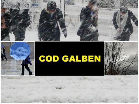 Cod GALBEN de ceaţă şi ninsoare! Ce spun meteorologii