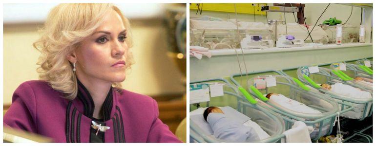 Reacţia Gabrielei Firea la situaţia bebeluşilor născuţi în Maternitatea Giuleşti: 20 de cadre medicale sunt infestate cu stafilococul auriu