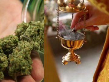Marijuana în loc de tămâie în biserică. Preotul şi credincioşii, de urgenta la spital