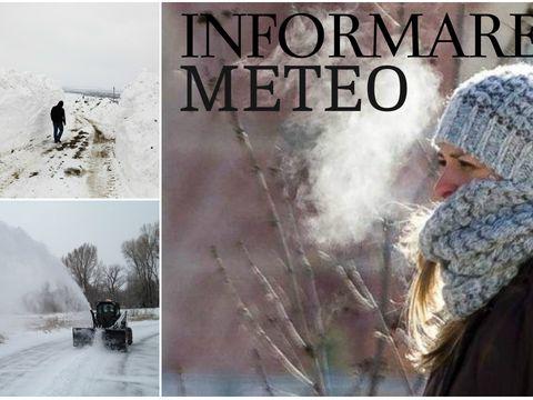 Informare meteo! Cod galben de viscol şi ninsori în România