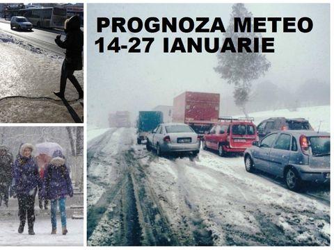 Prognoza meteo 14-27 ianuarie. Temperaturi scăzute şi ninsori