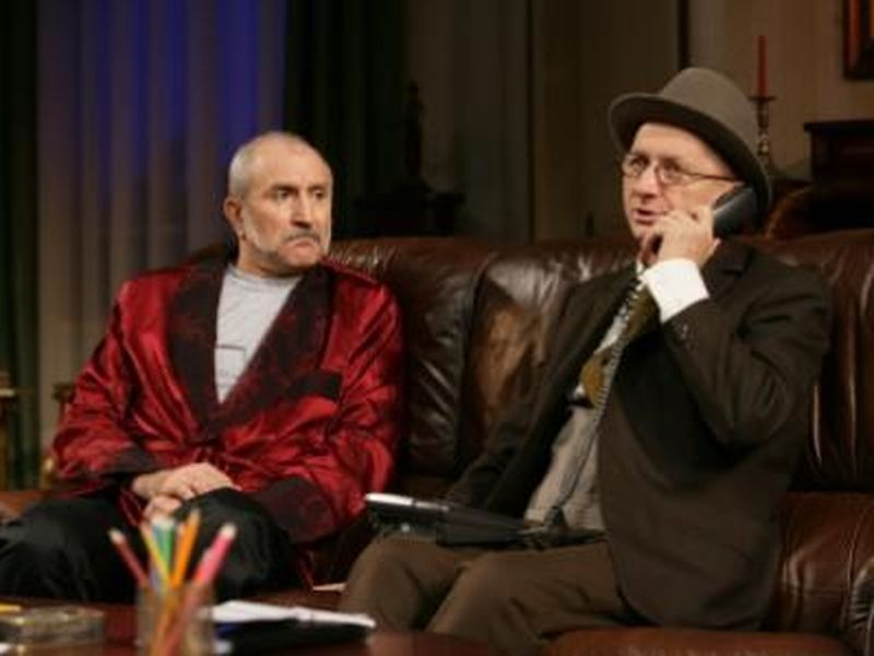 Serban Ionescu si Horatiu Malaele pe scena Teatrului National