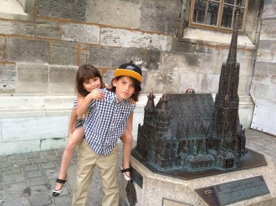 Anca Serea, cu copiii in vacanta la Viena: