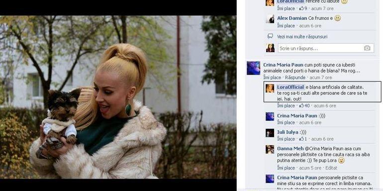 Lora s-a certat cu unul dintre fanii ei! VEZI ce a enervat-o atat de tare pe artista de a facut-o sa ii spuna: