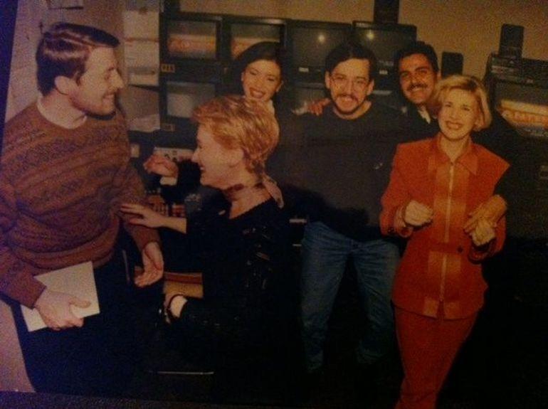 Imagini de colectie! Uite cum arata Sandra Stoicescu la inceputul meseriei, in studiourile Antenei 1!