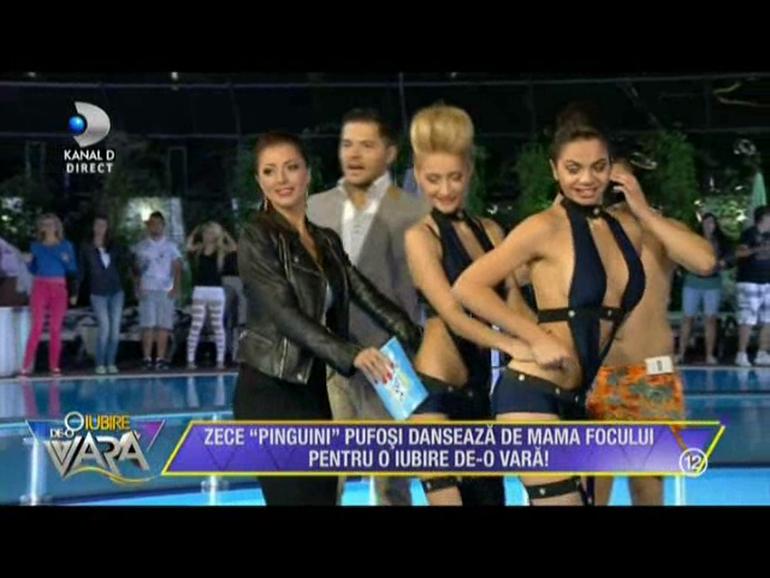 VIDEO Nebunie la 'O iubire de-o vara'! Ilinca Vandici si Liviu Varciu au incins un dans al pinguinilor impreuna cu concurentii! Trebuie neaparat sa vezi imaginile