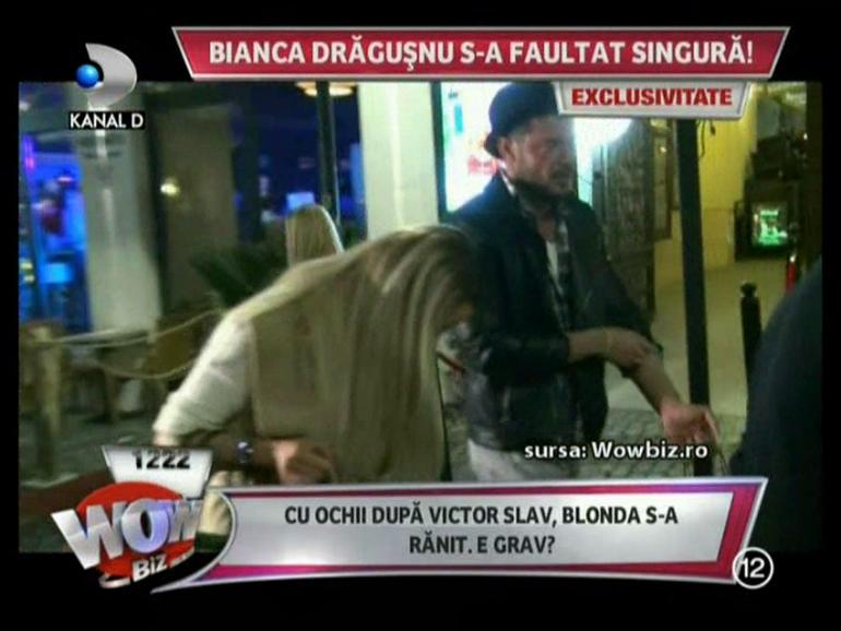 VIDEO Bianca Dragusanu s-a accidentat iar la picioare! De data asta era si Victor de fata