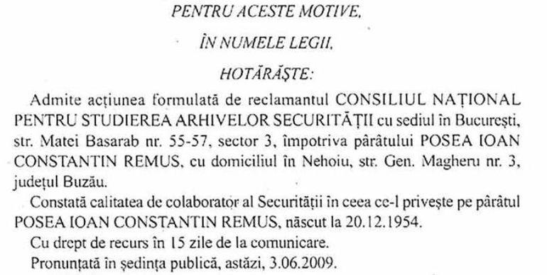 Primul sot al Iulianei Marciuc a colaborat cu Securitatea! Iata documentul oficial prin care tribunalul atesta statutul de colaborator al lui Remus Posea! Realizatoarea TVR a fost maritata cu el pana in 2002!