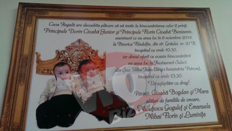Se anunta petrecere mare in imparatie! Nepotii lui Cioaba vor fi botezati cu mare fast la Sibiu! Avem invitatia si amanunte exclusive despre evenimentul regal