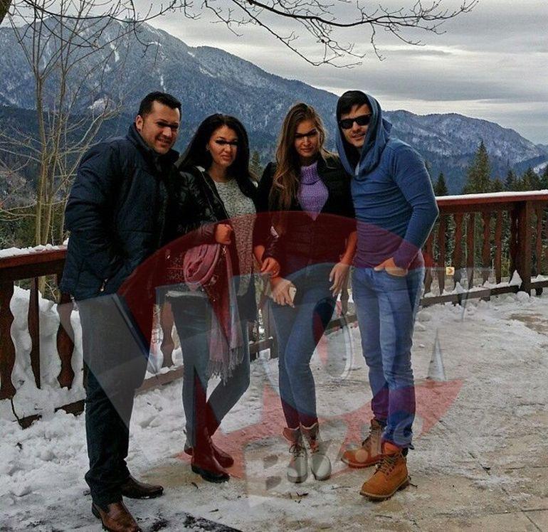 FOTO | Liviu Varciu, distractie pe partia de schi! Petrece sarbatorile la munte, cu gasca de prieteni