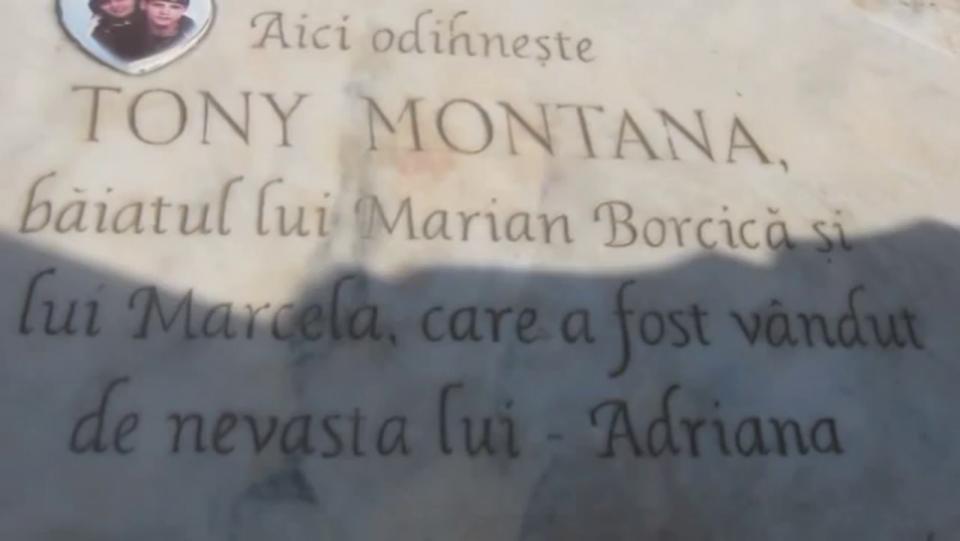 La mormantul lui Tony Montana de Romania a avut loc o paranghelie de zile mari! Interlopul roman era fascinat de personajul principal din filmul