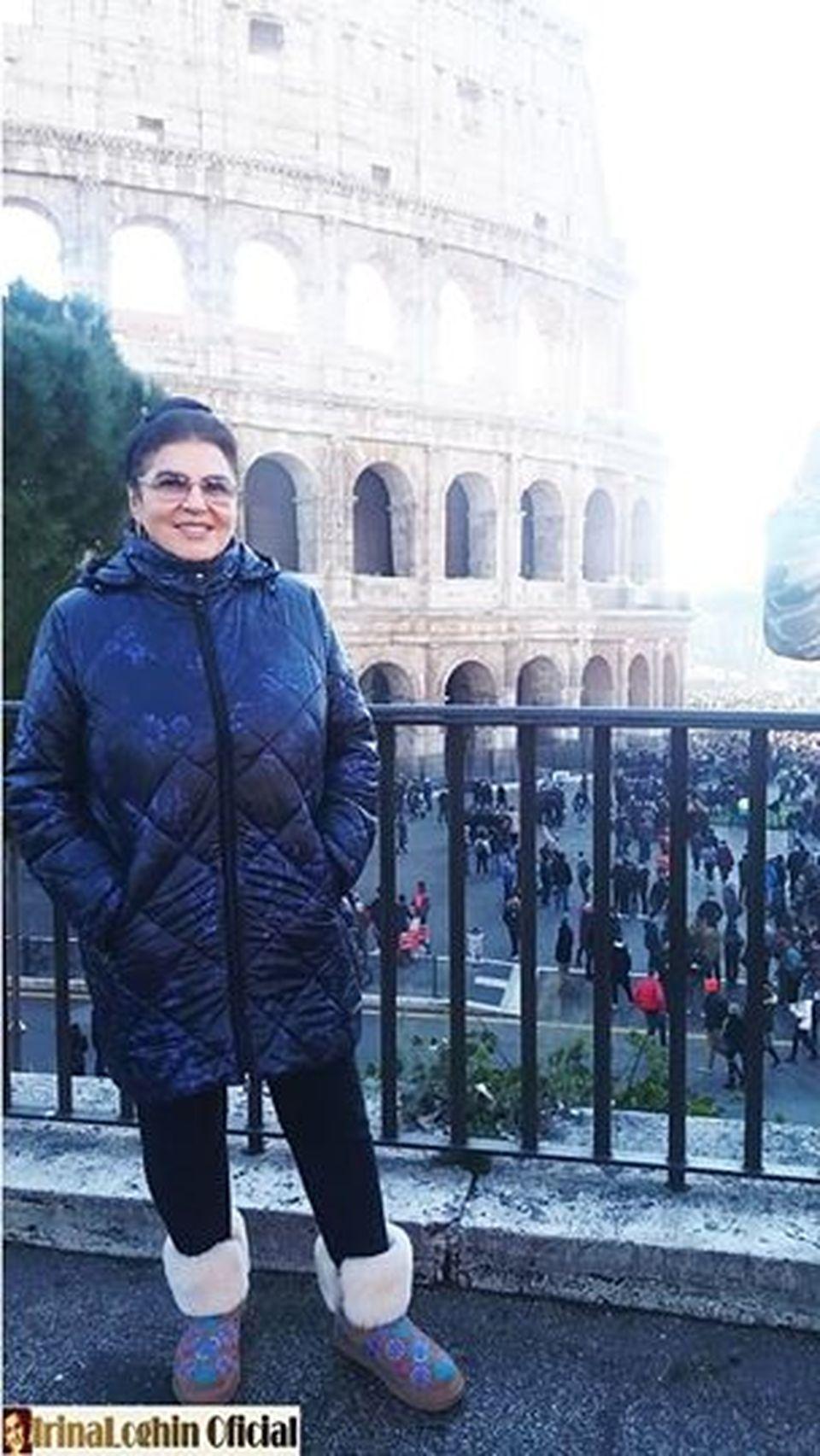 La 77 de ani, Irina Loghin se imbraca in continuare ca in tinerete! Celebra solista a facut Craciunul la Roma cu Daniel Iordachioaie si cu fetele de la Bambi