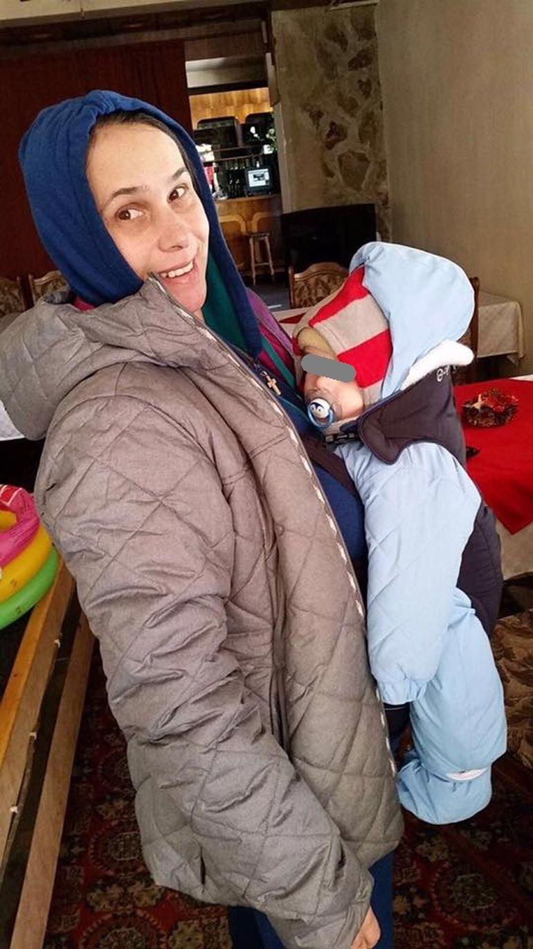 Imagine emotionanta cu Lavinia Milosovici si cu baietelul ei de 5 luni si jumatate!