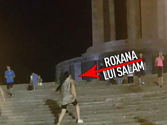Sotia lui Salam e DISPERATA sa slabeasca! Roxana Dobre urca si coboara scarile din parcul Carol pana nu mai stie de ea! Pana si paparazzii au obosit uitandu-se la ea!  VIDEO EXCLUSIV