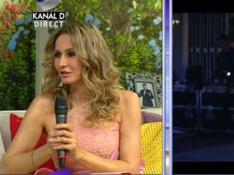 "Imagini de la nunta Crinei Abrudan cu fotbalistul Gabi Popescu! Vedeta a venit la ""Teo Show"" imbracata cu rochia pe care a purtat-o la cununia civila si a facut declaratii de senzatie"