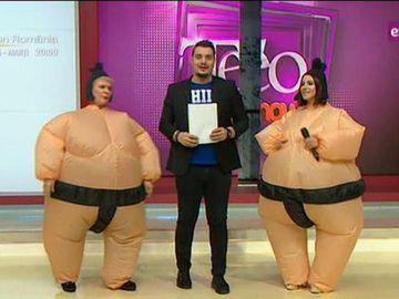 Teo si Nicoleta Nuca s-au jucat mima in costume de sumo! Imaginile sunt fabuloase