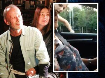 """Filmarea periculoasa facuta in masina ultimei sotii a lui Andrei Gheorghe! In timp ce Petruta conducea, Max isi """"dubla"""" mama pe geam VIDEO"""