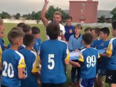 Ionut de la Exatlon, intalnire emotionanta cu micii fotbalisti din Galati! Copiii i-au scandat numele