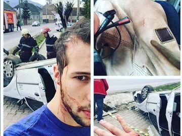 Barbatul la bratul caruia a aparut Bianca Dragusanu a fost implicat intr-un accident rutier! Cum arata dupa accident