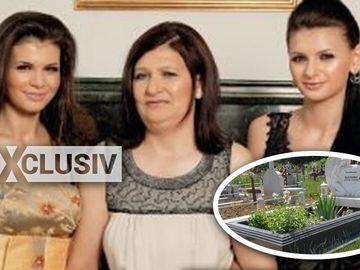 EXCLUSIV La aproape 5 ani de la moartea mamei, Monica Gabor a facut ASTA la mormantul Veronicai Bulai! Iubita lui Mr. Pink a pus flori la cimitir si a inlocuit coronita alba de plastic cu una rosie FOTO