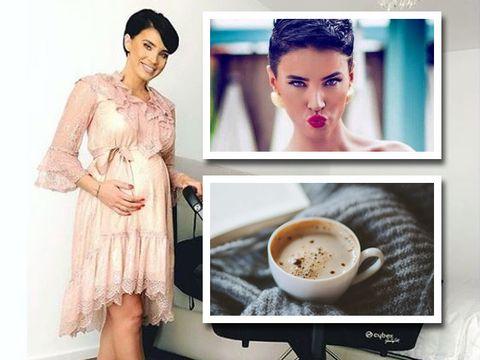 Momentul adevarului! A baut sau nu Adelina Pestritu cafea in timpul sarcinii? Vezi ce i-a spus medicul frumoasei vedete.