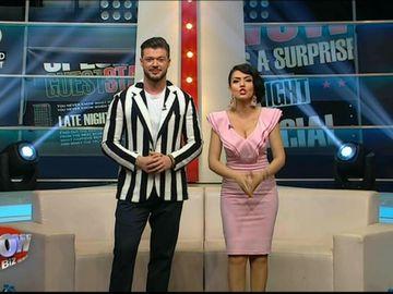 Andreea Mantea si Victor Slav formeaza un cuplu pentru emisiunea lui Chef Foa? Anuntul facut de cei doi simpatici prezentatori, in direct, la WOWbiz