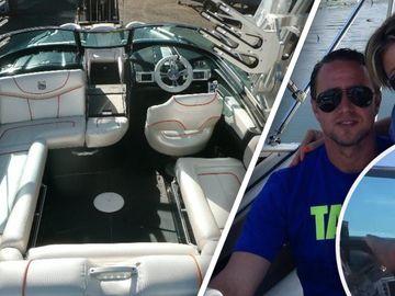 Laurentiu Reghecampf a zburat cu salupa pe lacul Snagov! Uite-l pe sotul Anamariei Prodan cum conduce ambarcatiunea comandata in SUA! VIDEO