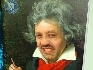 Fanii il vor pe Nicolae Guta pe coperta manualului de muzica! Manelistul a ajuns sa semene cu celebrul compozitor Ludwig van Beethoven!