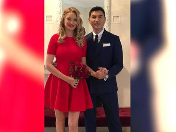 """Prima fotografie cu proaspetii insuratei! Cristi Borcea si Valentina Pelinel, aclamati pe internet: """"Asa da!"""""""