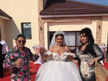Cumnata lui Adi Minune, bomba sexy la propria nunta! Decolteu ametitor pentru Alexandra, manelistul, cel mai mandru nas FOTO
