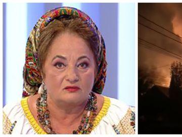 Casa Laurei Lavric a luat foc! Imagini terifiante cu locuinta parinteasca arzand