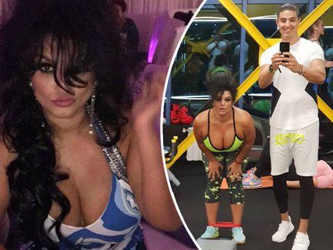 Văduva milionarului ucis de tren, imagini fierbinţi de la sală! La 45 de ani, Ioana se antrenează cu Alexander Florescu!