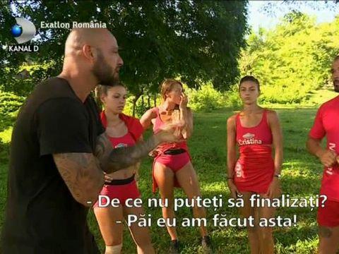 """Exatlon 2 noiembrie. Confruntare între Giani Kiriţă şi Mirel Drăgan! Antrenorul îl ia la întrebări pe Faimos: """"De două saptamani câte puncte ai luat?"""""""