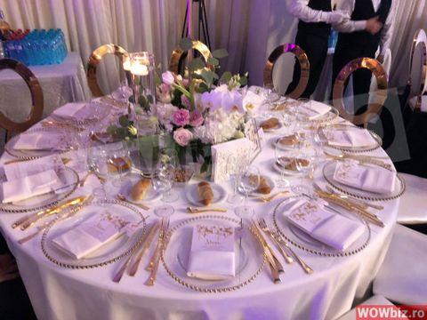 Tacâmuri şi scaune de aur la petrecerea de botez a Zenaidei! Cum arată meniul ales de Adelina Pestriţu şi Virgil
