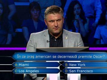 """Vrei sa fii milionar?""/ Nicu Perojuc nu a riscat si a ales sa se retraga din concurs cu suma de 25.000 de lei"