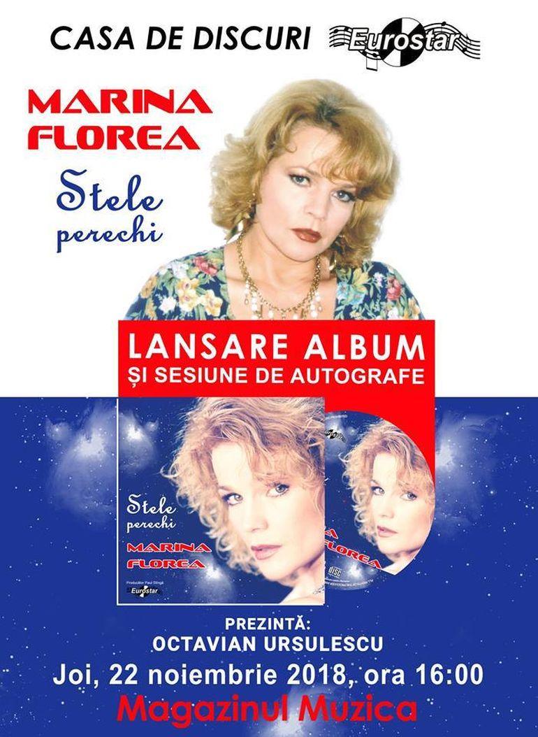 Cântăreaţa Marina Florea îşi lansează un nou album după 17 ani de pauză!