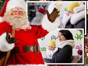Adelina Pestriţu i-a făcut Zenaidei cunoştinţă cu Moş Crăciun. Vezi reacţia fabuloasă a fetiţei FOTO EXCLUSIV