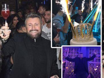 Cătălin Botezatu, petrecere DEMENŢIALĂ de ziua lui. Uite ce tort spectaculos a avut designerul şi ce prieteni celebri au fost lângă el FOTO!