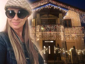 Senzaţie! Prodanca şi-a împodobit vila de la Snagov exact ca în America! Casa este plină de beculeţe şi arată extraordinar în perioada Sărbătorilor