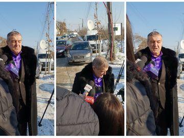 Gigi Becali a mers la înmormântarea tatălui lui Mihai Stoica. La cimitir a ajuns şi antrenorul Stelei, Mihai Teja
