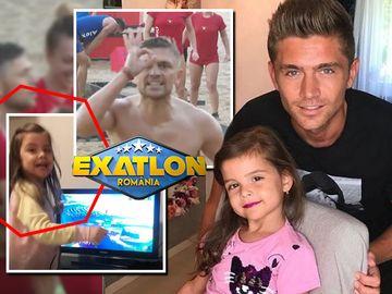 """Reacţia fenomenală a fetiţei """"faimosului"""" Costin Gheorghe după ce fotbalistul a adus punctul victoriei la Exatlon! Avem imaginile senzaţionale cu micuţa Emma VIDEO"""