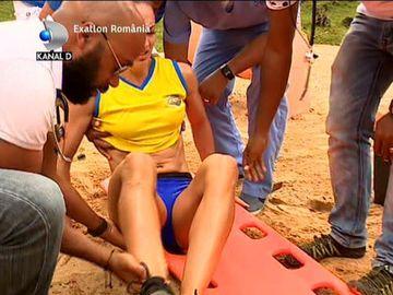 """Exatlon 15 ianuarie. Momente de groază la Exatlon! Diana Pivniceru s-a accidentat: """"S-a dus în interior piciorul"""""""