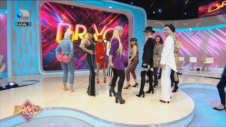 """Twerk, twerk!"" Anda Adam şi concurentele de la ""Bravo, ai stil!"", cel mai lasciv dans VIDEO"