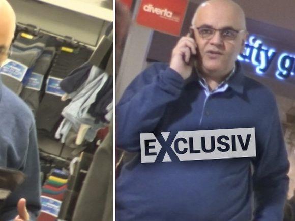 Raed Arafat nu are timp nici în weekend! A ieşit la mall şi a stat numai pe telefon! VIDEO EXCLUSIV