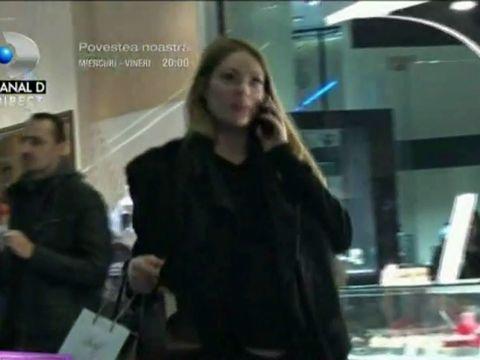 Ce burtică are Valentina Pelinel! Filmată în timp ce îi cumpăra cadou lui Cristi Borcea de ziua lui