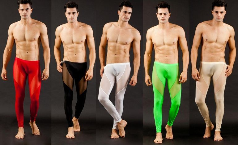 Cea mai oribila moda pentru barbati! Uite cum arata colantii destinati sexului tare: sunt transparenti si mulati pe...